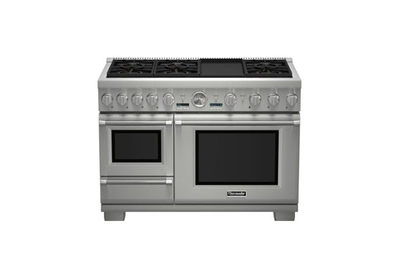 Thermador 48-Inch Professional Series Pro Grand Commercial Depth Dual Fuel Steam Range (PRD48JDSGU)